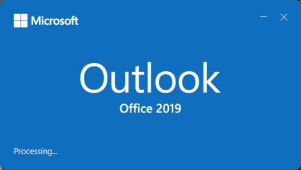 Outlook 2019 Processing after Windows 11 Upgrade