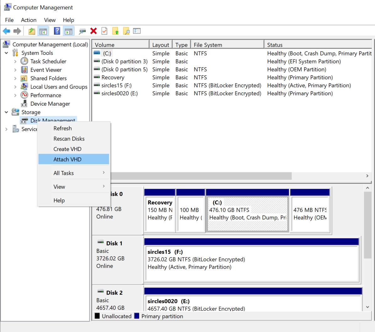 The sircles IT blog | Booting a Gen2 UEFI Disk2VHD VHDX