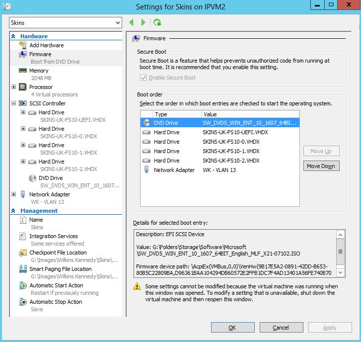 The sircles IT blog   Booting a Gen2 UEFI Disk2VHD VHDX