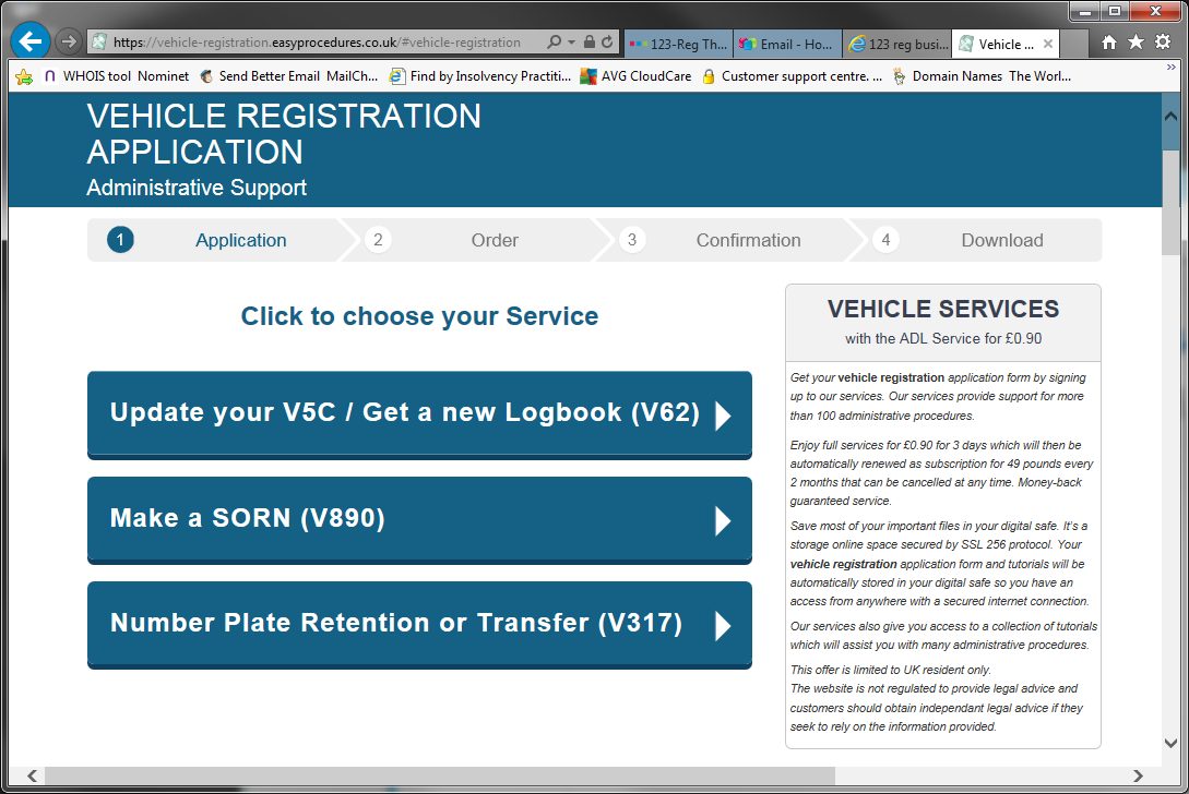 Easy Procedures DVLA scam